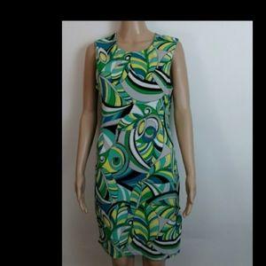 Jennifer Lopez green yellow black dress size L